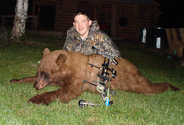 Hunter with his Black Bear trophy